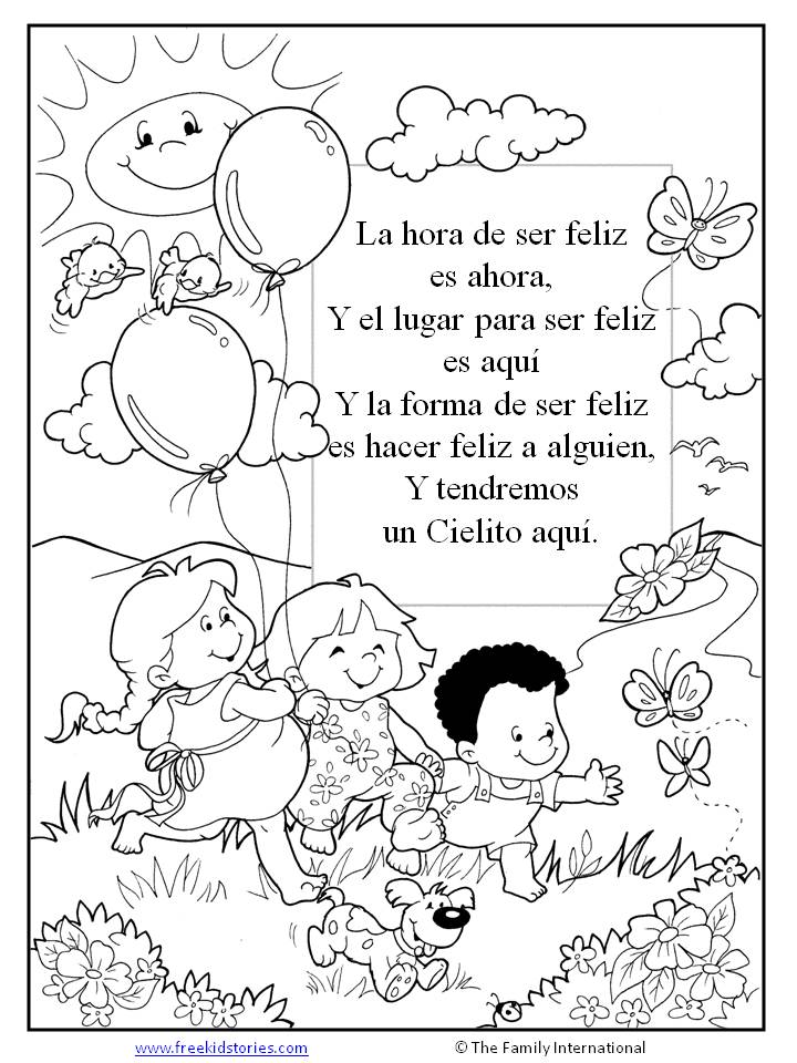 Paginas Para Pintar | Free Kids Stories