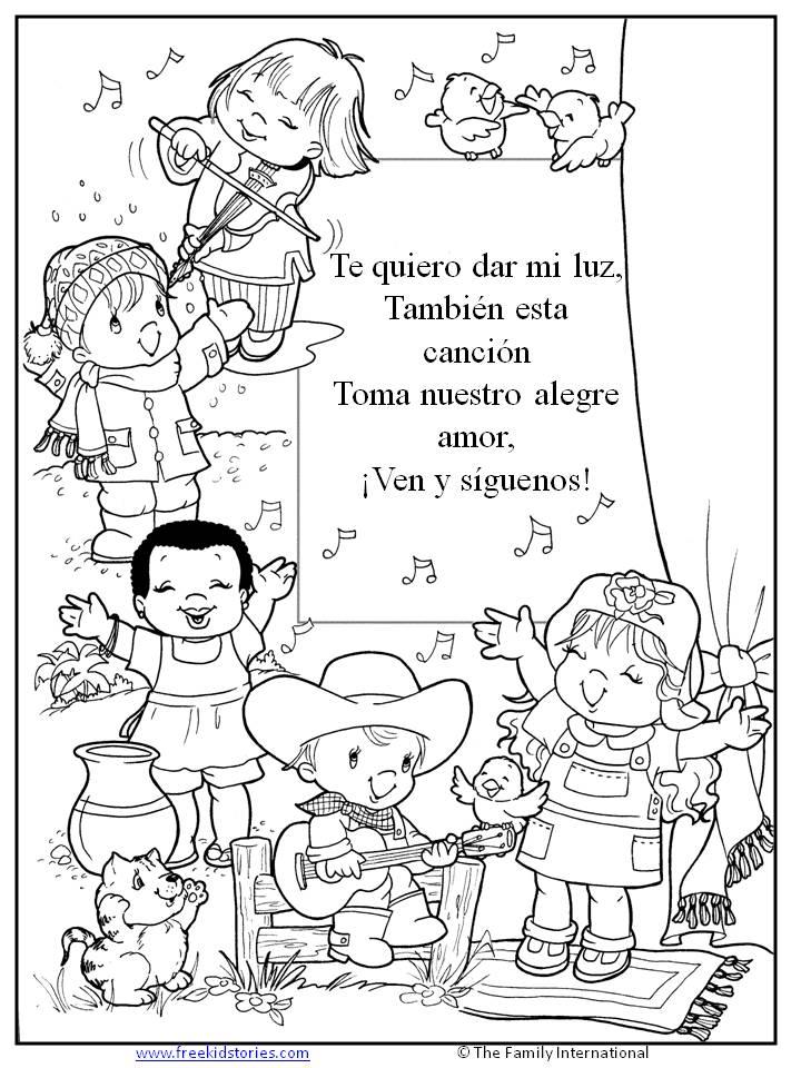 Lujoso Cuentos Bíblicos Para Colorear Páginas De Preescolares ...