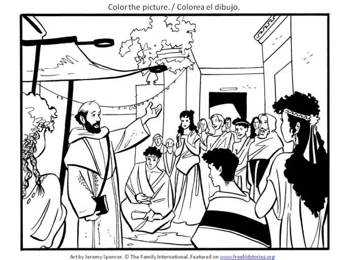 apostoles colorear