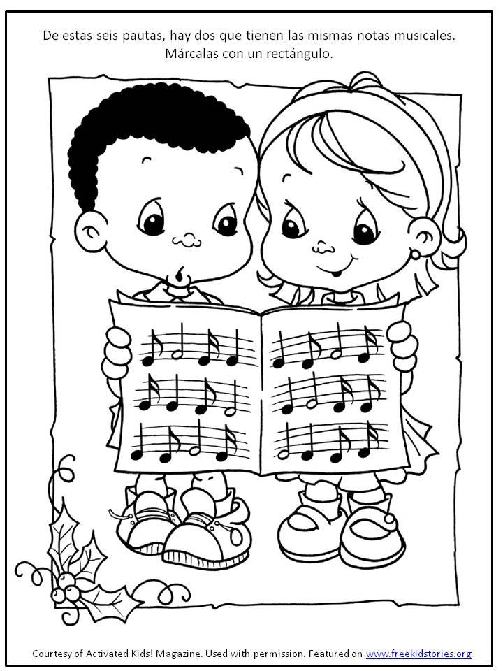 pagina actividad navidad 4 – Free Kids Stories