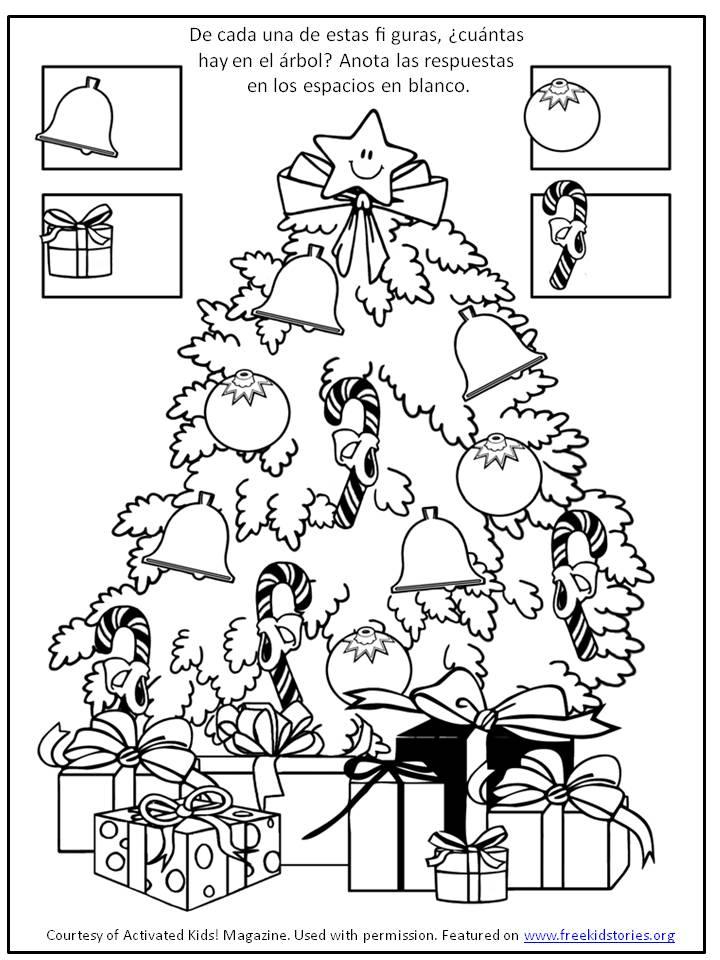 Pagina actividad navidad 6 free kids stories - Trabajos manuales de navidad para ninos de primaria ...