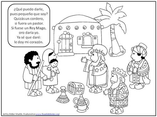 Dia de Reyes coloring page - Epiphany coloring page 2