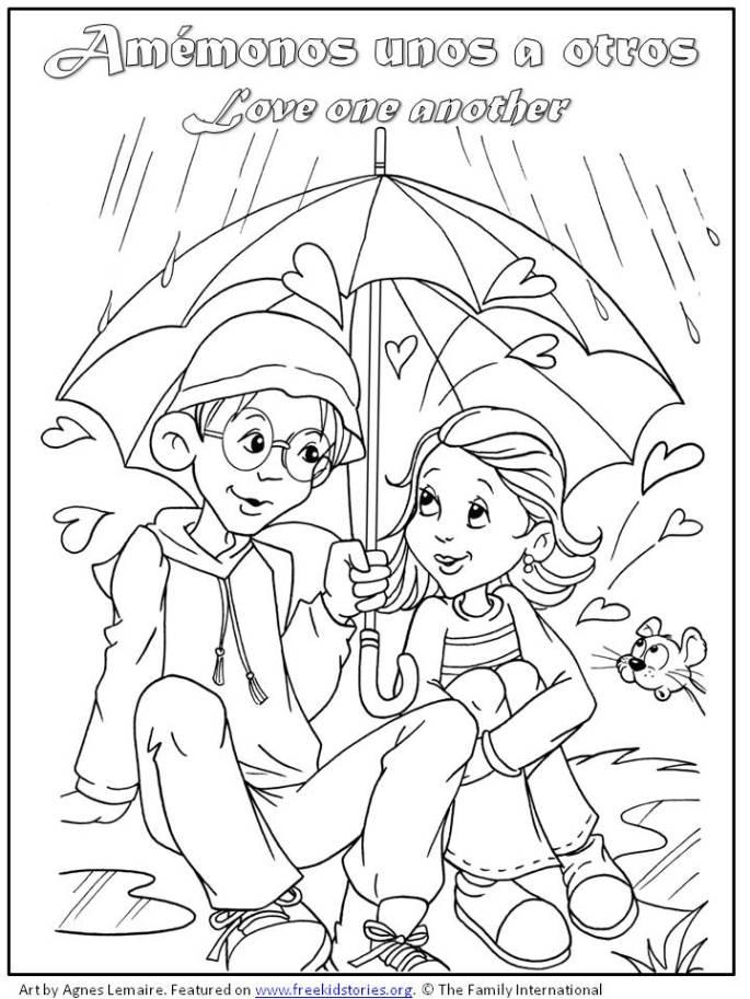 niño y niña juntos dia San valentin