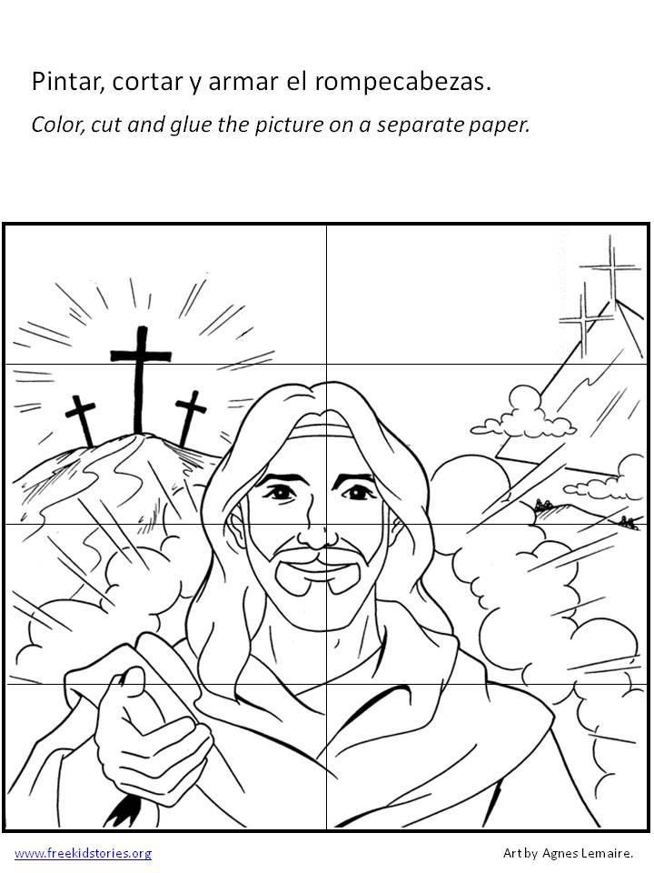 Pascua – Páginas de actividades y para colorear – Free Kids Stories
