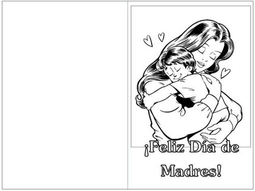 blanco negro tarjeta dia de madres abrazo
