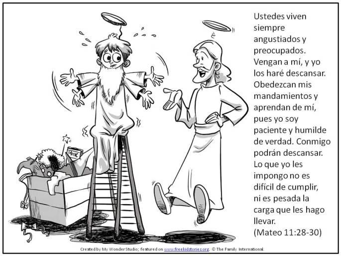Jesús hablando con niño