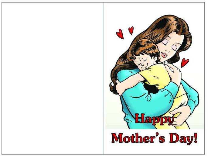 color mother's day card boys