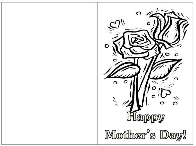black white mother's day card girls