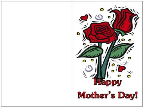 color mother's day card roses