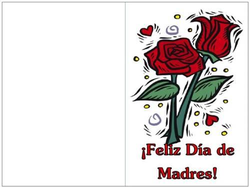 color tarjeta día de madres rosas