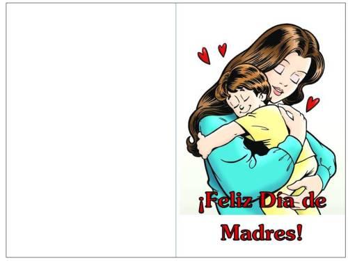 color tarjeta día de madres abrazo