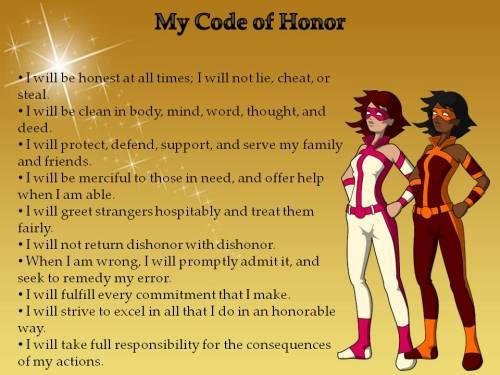 children's code of honor poster girls