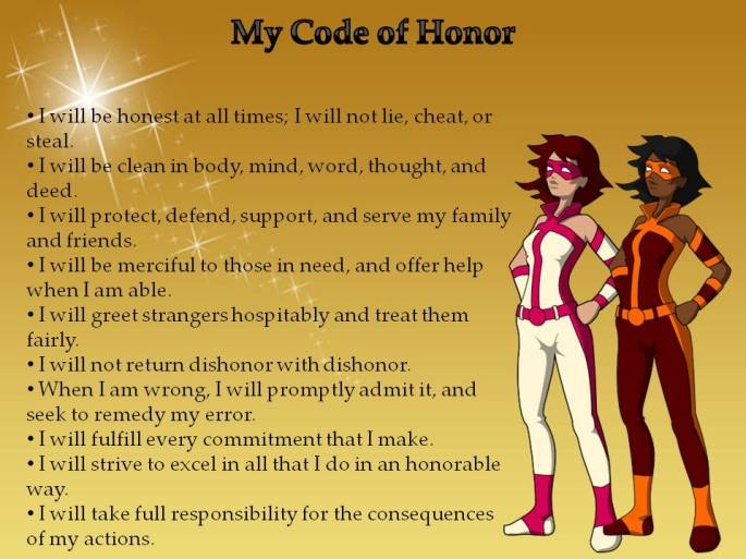 children's code of honor poster girls