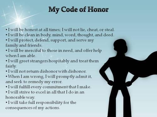 children's code of honor poster boys