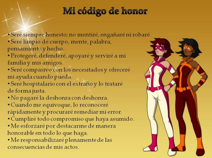 poster código de honor niñas