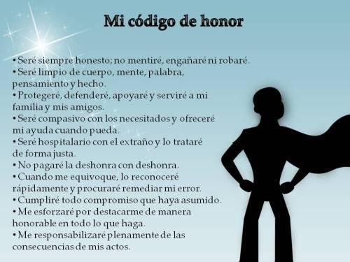poster código de honor niños