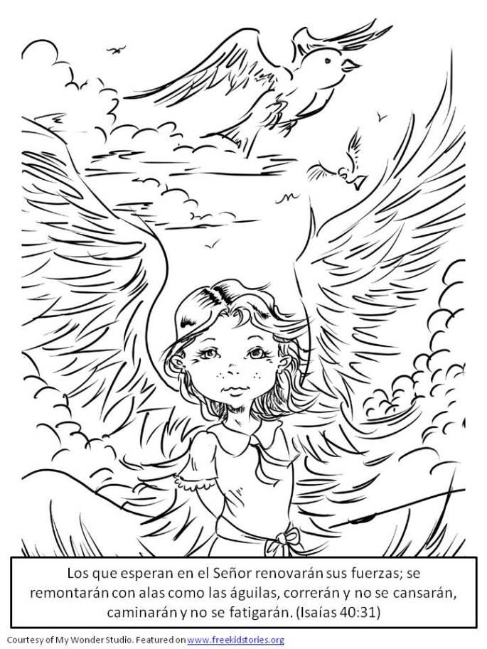 Poder de Dios pagina para pintar 4