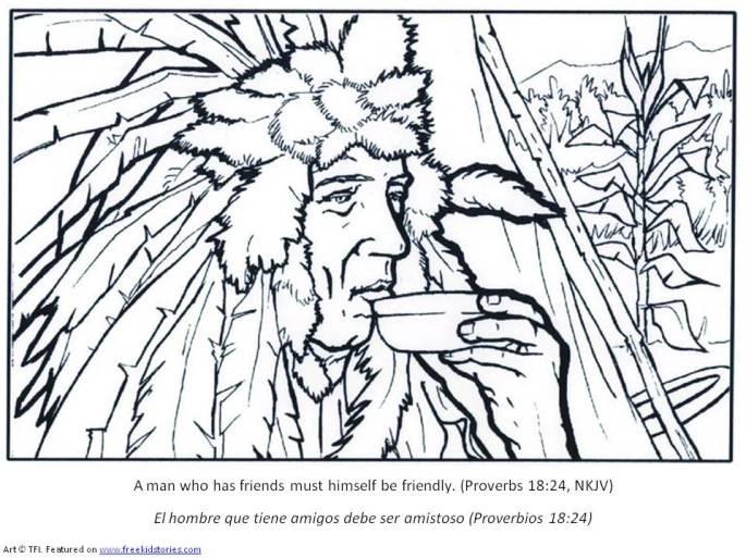 Peregrinos y indios pagina para pintar 2