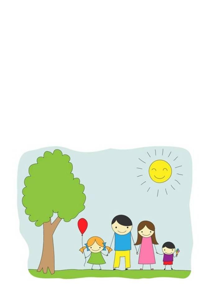 Día de padre tarjeta color ninos