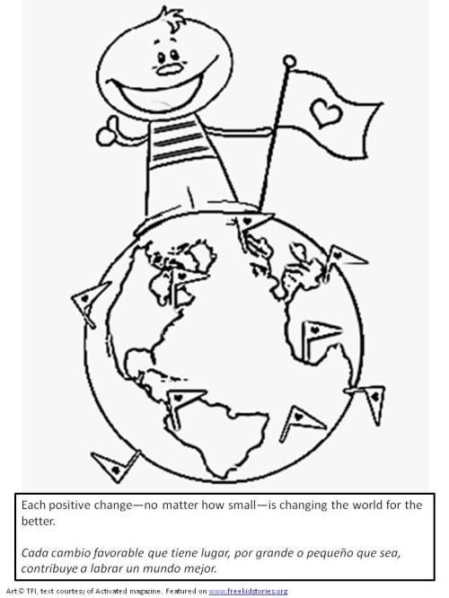 Marca la diferencia - pagina para pintar para niños
