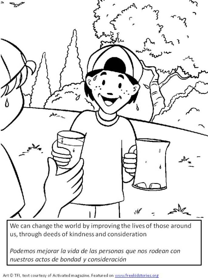 Marca la diferencia - pagina para pintar para niños 2