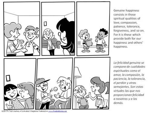 Tolerancia pagina para pintar del serie valores morales para ninos