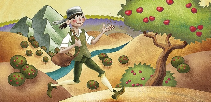 Johnny Appleseed story for children