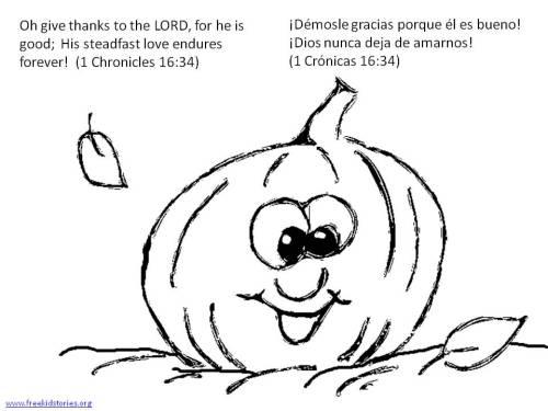 Día de Accion de Gracias: Versículos de la Biblia para pintar - Thanksgiving Bible verse coloring pages 2