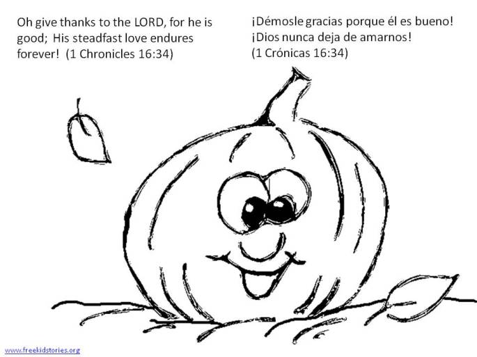 Día de Accion de Gracias: Versículos de la Biblia para pintar - Thanksgiving Bible verse coloring pages 2