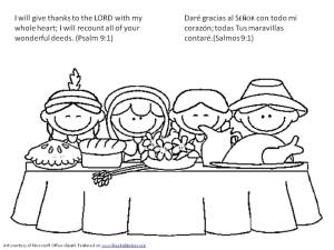 Día de Accion de Gracias: Versículos de la Biblia para pintar - Thanksgiving Bible verse coloring pages 1