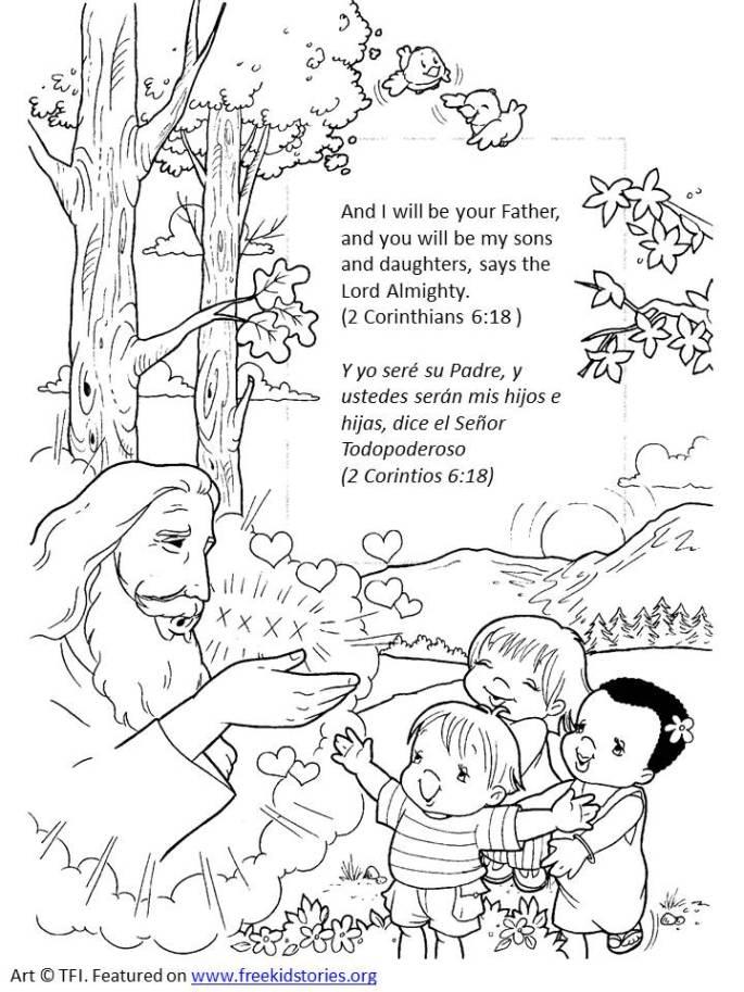 Dios es mi padre versículos de la Biblia colorear 2