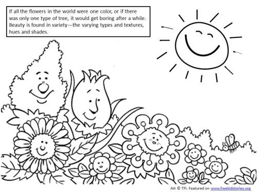 Beautiful You Moral Values for Children coloring page 2