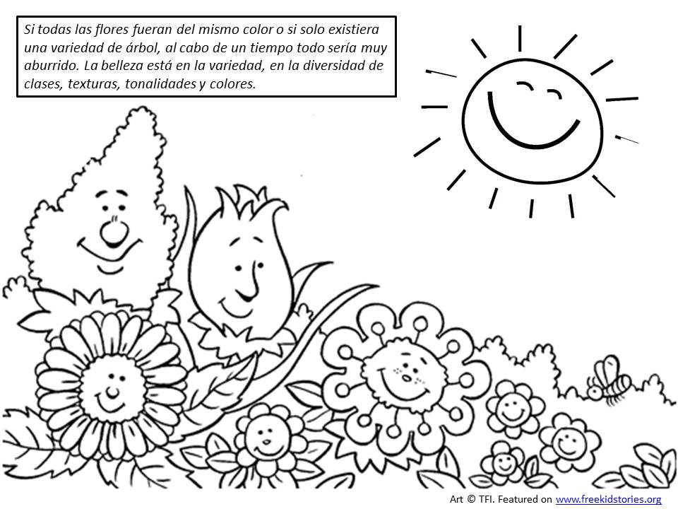 Valores morales para niños: Tu belleza singular pagina para pintar 2