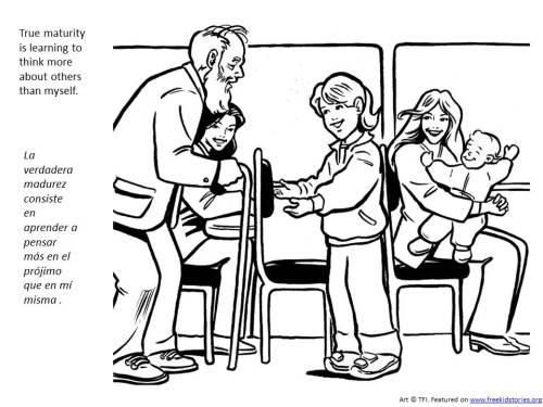 Maturity Coloring page for children - La madurez página para colorear para niños