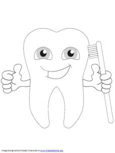 happy tooth coloring pages