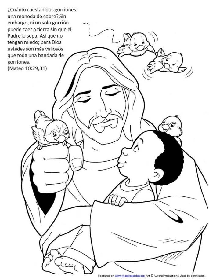 El gorrion pagina para pintar para niños