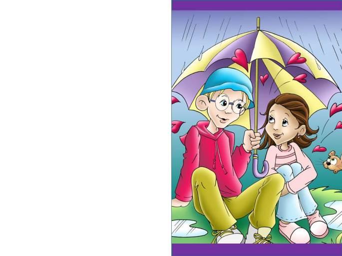 Valentine's Day card children - tarjeta Día San Valentin infantil