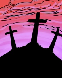 Cross dramatized children's Easter story