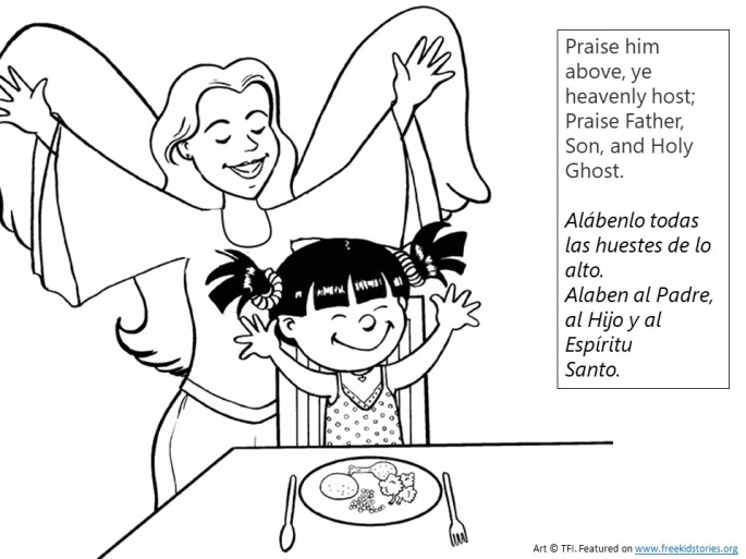 Alabado sea Dios pagina para pintar - Praise God from Whom All Blessings Flow coloring page 2