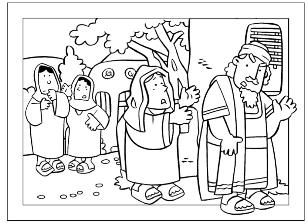 parable widow and unjust judge coloring page