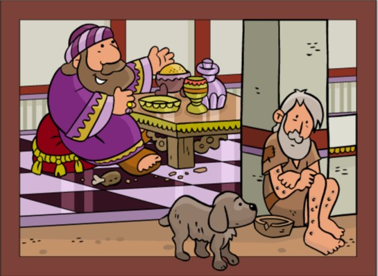 The Parable of the Rich Man and Lazarus for children
