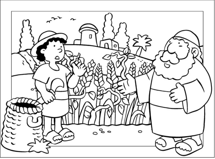 wheat and tares coloring page