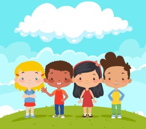 group multiethnic children